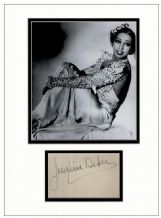 Josephine Baker Autograph Signed Display